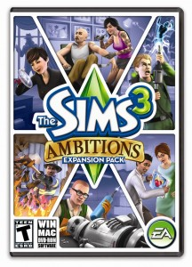 The Sims 3 Ambitions US Box Art