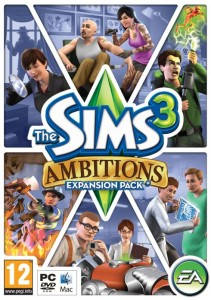 UK The Sims 3 Ambitions Box Art