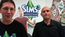 Still from the The Sims 3 Generations Live Broadcast showing Graham Nardone and Ryan Vaughan