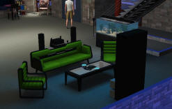 View of a living room in The Sims 3 Design & High-Tech Stuff