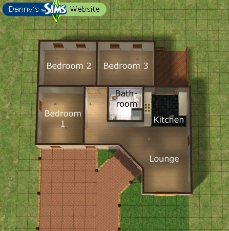 3 bedroom detached bungalow houses downloads the for Sims 2 house designs floor plans
