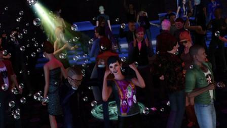Sims dancing in a club